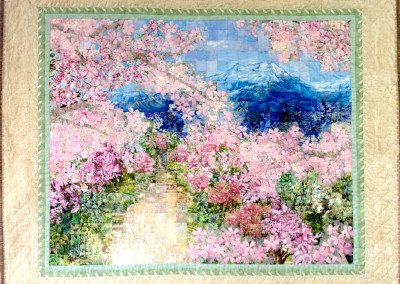 「山への桜並木」