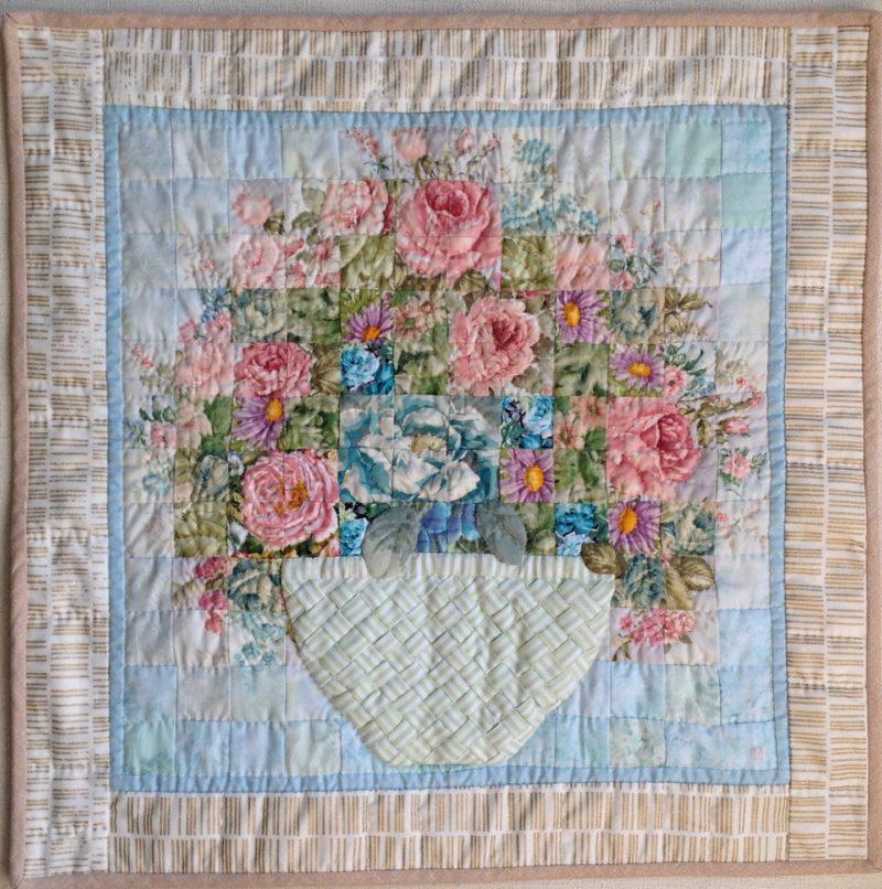 Gentle Flower Arrangement | Quilt Watercolor