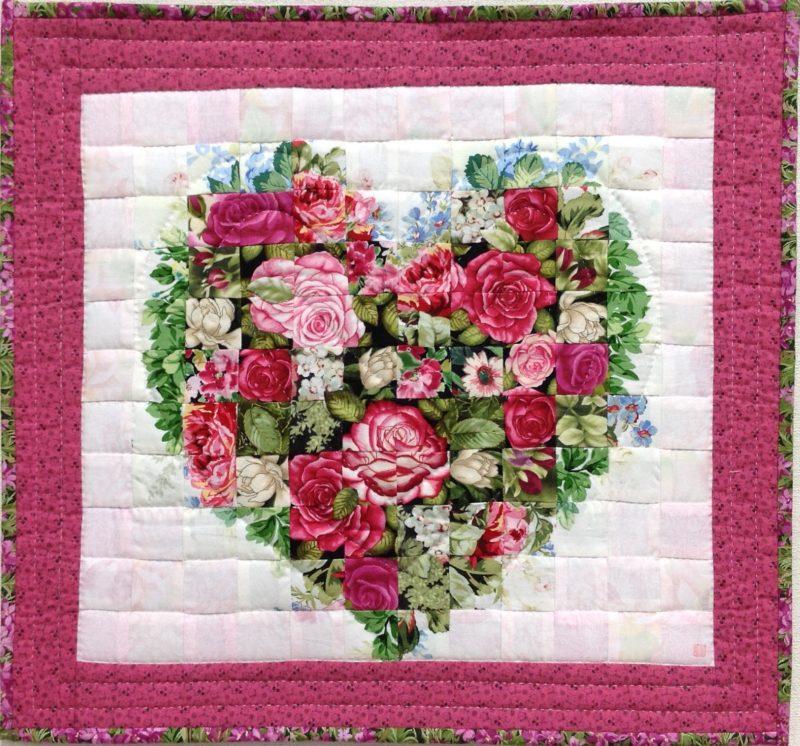 Pink & Love   Quilt Watercolor