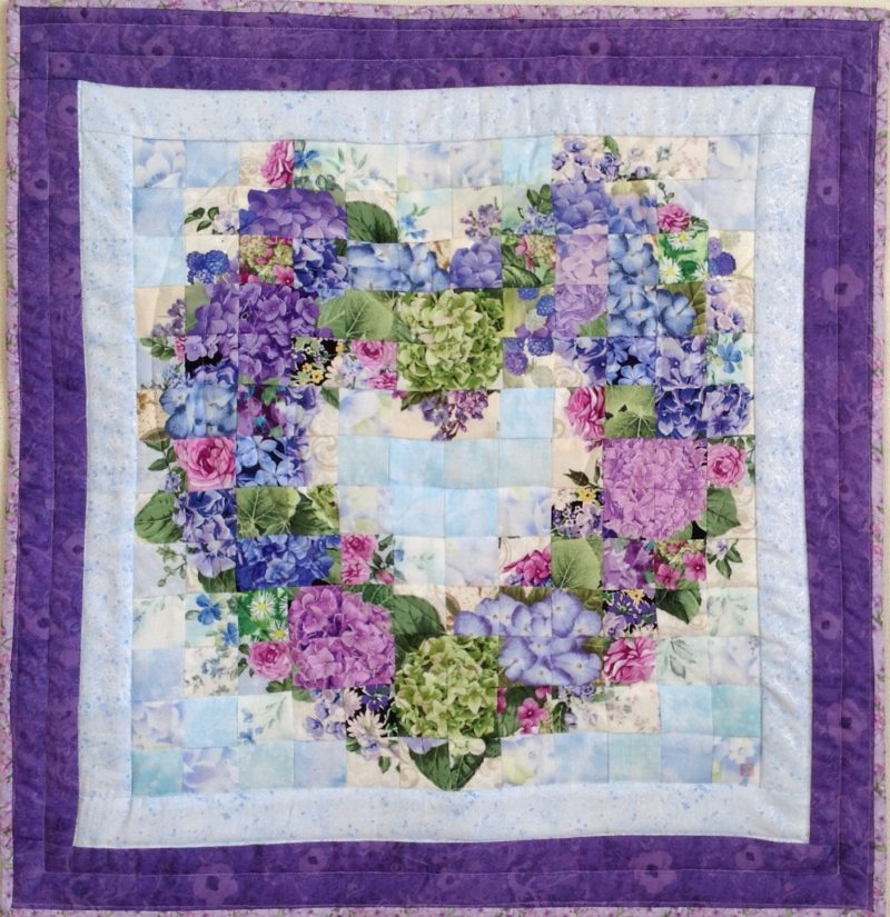 Hydrangea Wreath | Quilt Watercolor