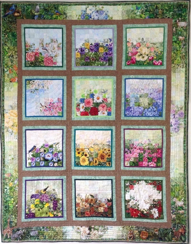 flower calendar | Quilt Watercolor