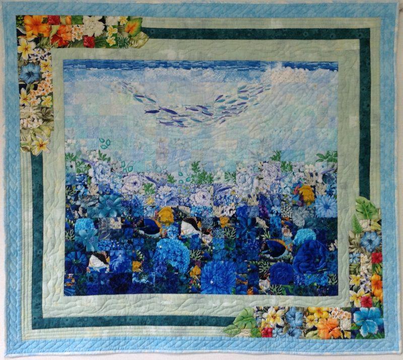 Flower Field in the Ocean | Quilt Watercolor