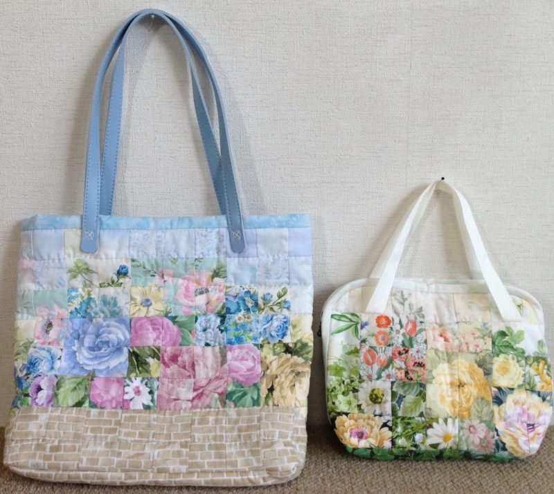 Blue Bag and White Bag | Quilt Watercolor
