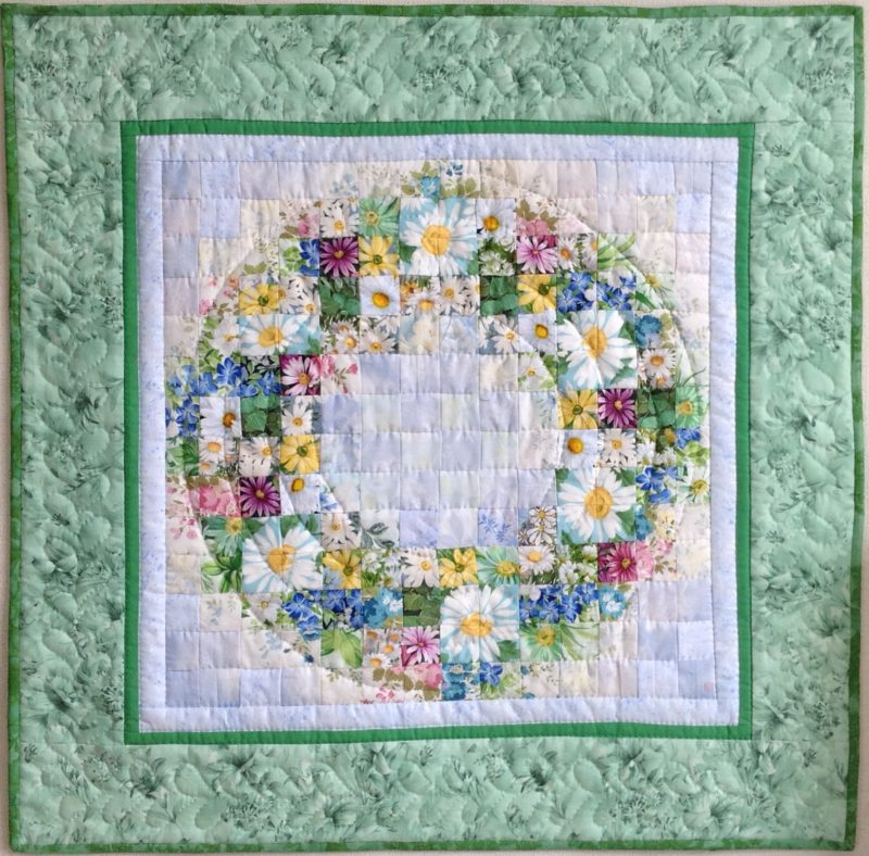 Daisy Wreath | Quilt Watercolor