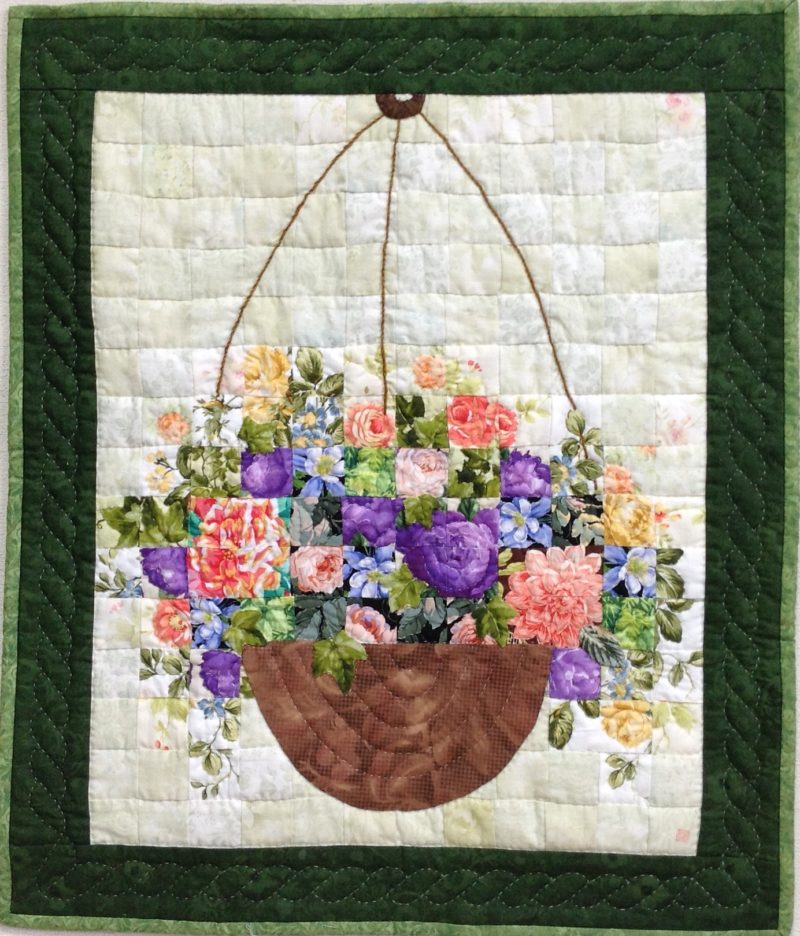 Hanging Basket | Quilt Watercolor