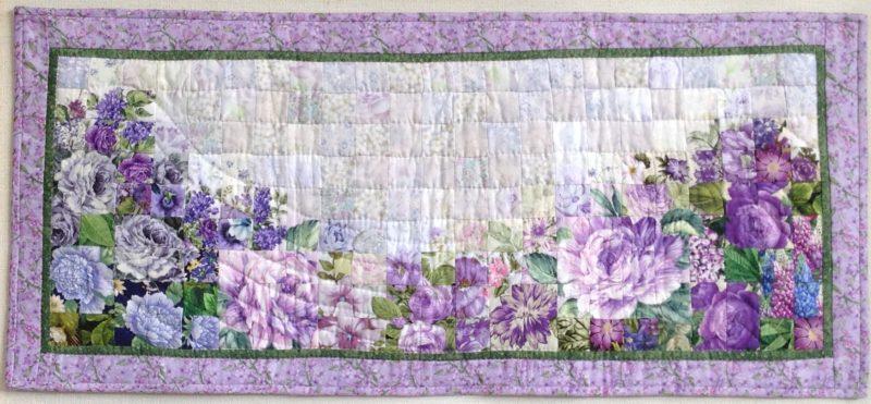 Purple Flowers | Quilt Watercolor