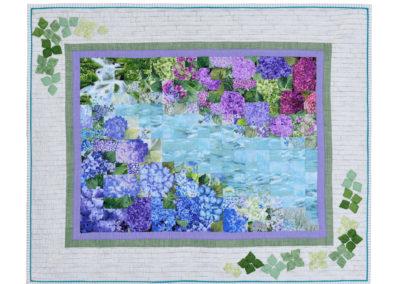 「水辺の紫陽花」