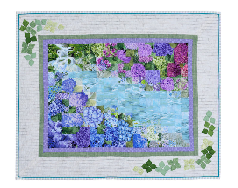 hydrangea by the riverbanks  | Quilt Watercolor