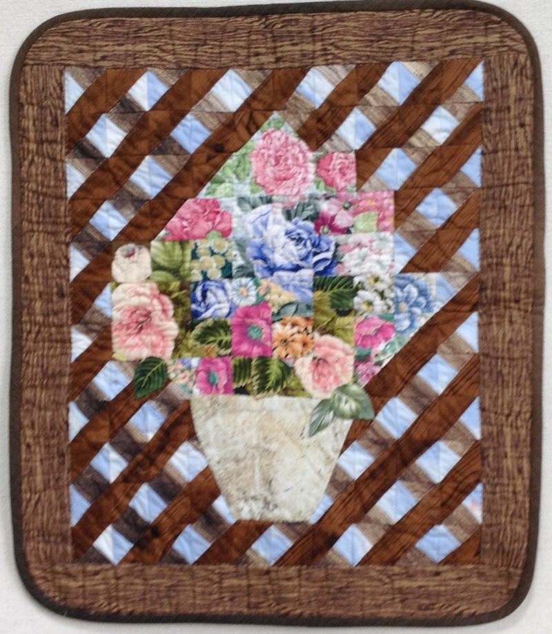 Hanging Flower Basket | Quilt Watercolor