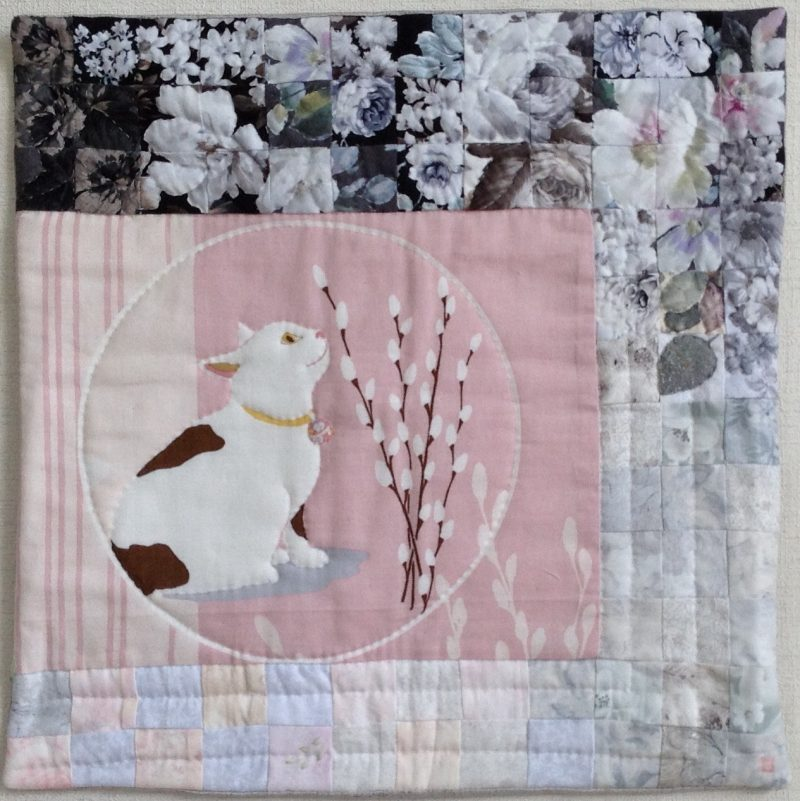 Cat Thinking Out Loud | Quilt Watercolor