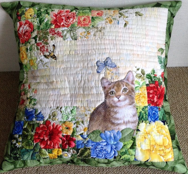 Cat and Butterfly | Quilt Watercolor