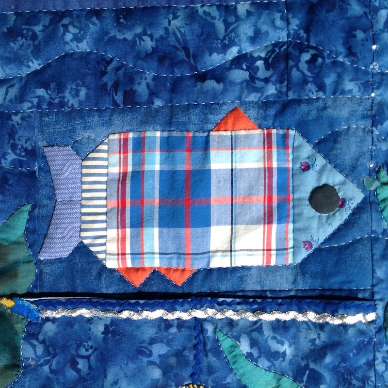 Enzo's Fish Quilt | Quilt Watercolor