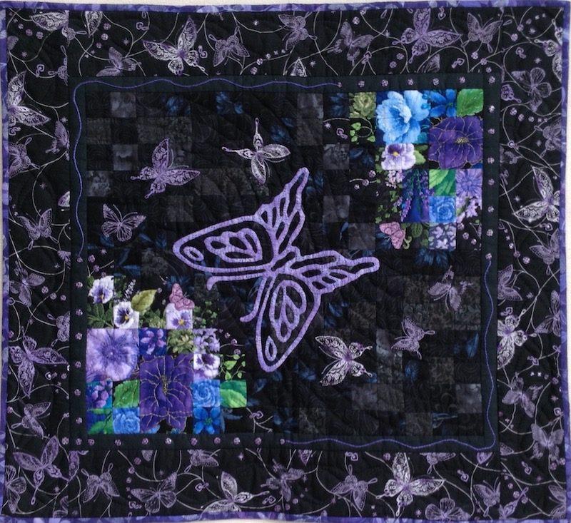 Flying Butterflies | Quilt Watercolor