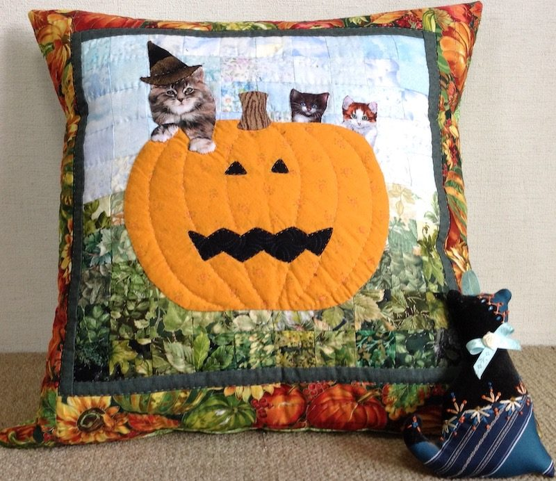 Halloween Cat | Quilt Watercolor