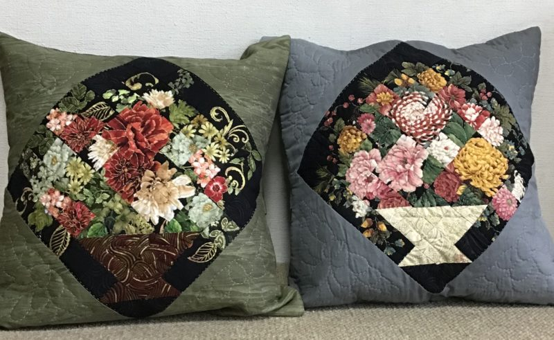 Japanese style Cushion Cover | Quilt Watercolor