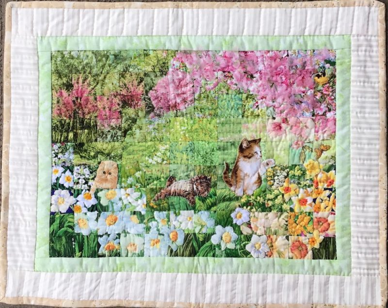 Cats Hanami | Quilt Watercolor