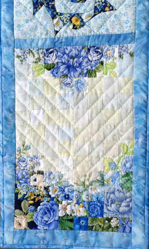 Blue Tablecenter | Quilt Watercolor