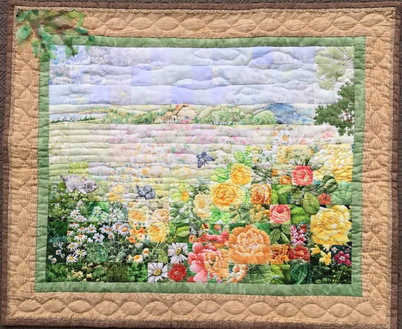 Spring Full Bloom | Quilt Watercolor