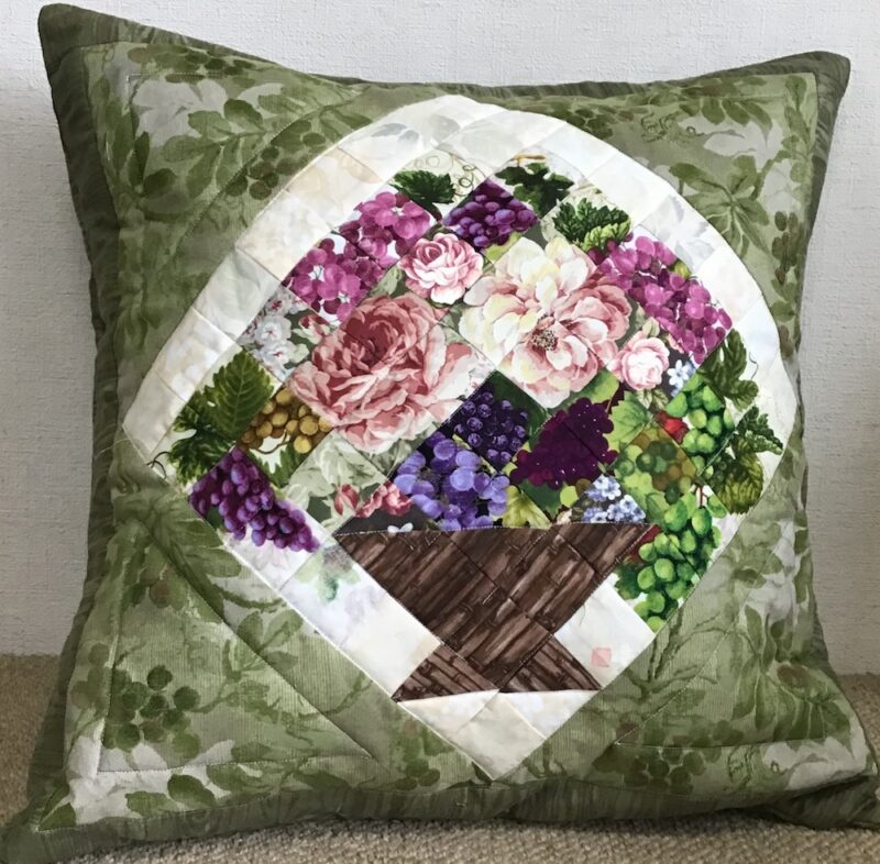 Fall Cushion Cover | Watercolor Quilt